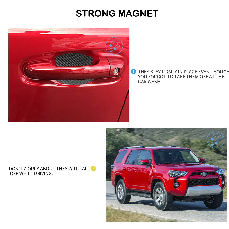 Door Handle Trim Magnetic Door Cup Paint Scratch Protector Cover Accessories for Toyota 4 Runner 4 Pcs