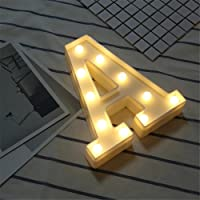 LOVFASHION LED Marquee Letter Lights 26 Alphabet Light Up Marquee Letters Sign for Wedding Birthday Party Battery Powered Christmas Night Light Lamp Home Bar