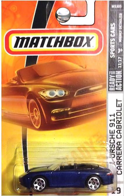 Amazon Com Matchbox 2008 Sports Cars Blue Porsche 911 Carrera Cabriolet Convertible 019 Of 100 Toys Games