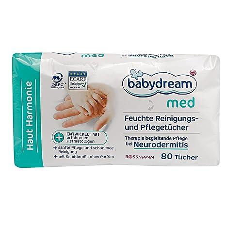 babydream Med húmedas de limpieza & Toallitas (80 unidades) + Diseñado con experimentados Dermatólogos