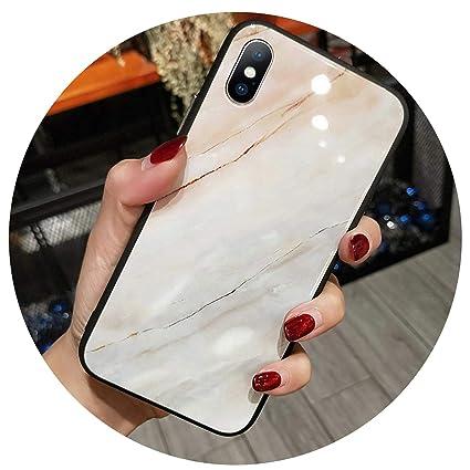 Amazon.com: Carcasa de vidrio templado para iPhone X 8 7 6 ...