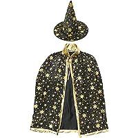 ملابس تنكرية للهالووين للبنات والاولاد مكونة من قبعة ساحر وعباءة ساحر من اكس واي اي واي اي