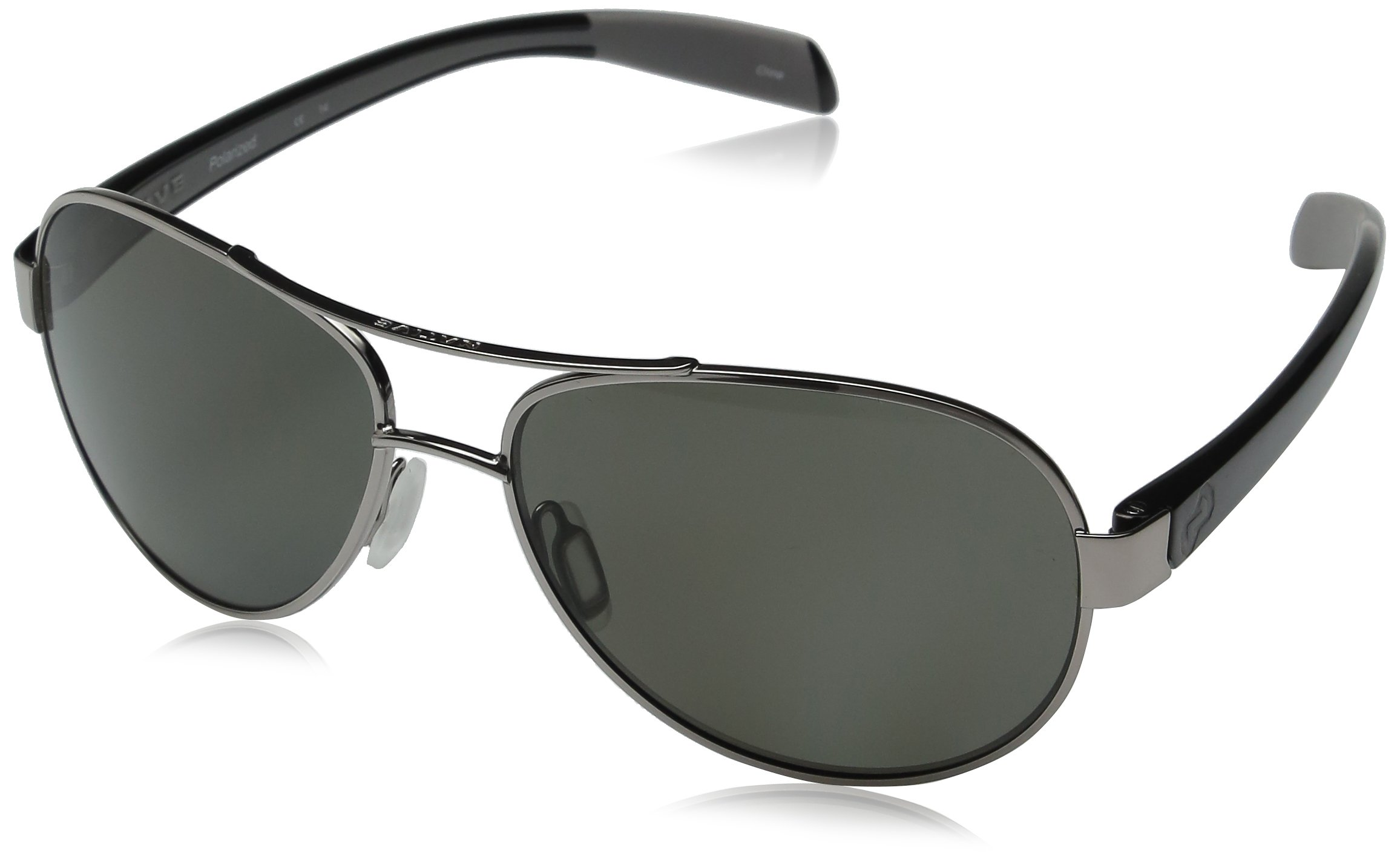 Native Eyewear Haskill Polarized Sunglass, Chrome and Iron Frame/Gray Lens