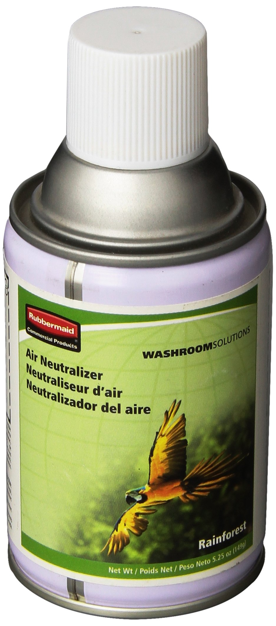 Rubbermaid Commercial FG750302 Standard Aerosol Refill for Microburst Metered Air Care Systems, Rainforest (Global Collection) by Rubbermaid Commercial Products (Image #1)