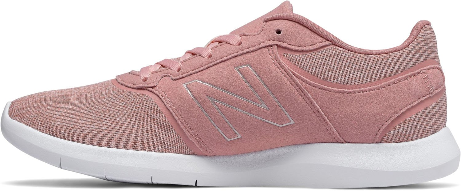 New Balance Women's 415v1 Cush + Sneaker B0751RHXBG 7.5 D US|Dusted Peach/Champagne Metallic/White