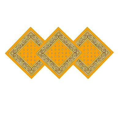 8fde15c6a60f Trebien 3pcs Bandanas Original Paisley 100% Coton Multicolore Cheveux  Bandeau Bandannas Foulard Fichu Mouchoir Echarpe