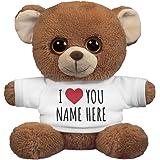 I Love You Customizable Name Gift: 7.5 Inch Oogles Brown Bear Stuffed Animal