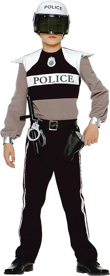 CARITAN - Disfraz de policía para niño (3 4 años) (talla 102 cm ...
