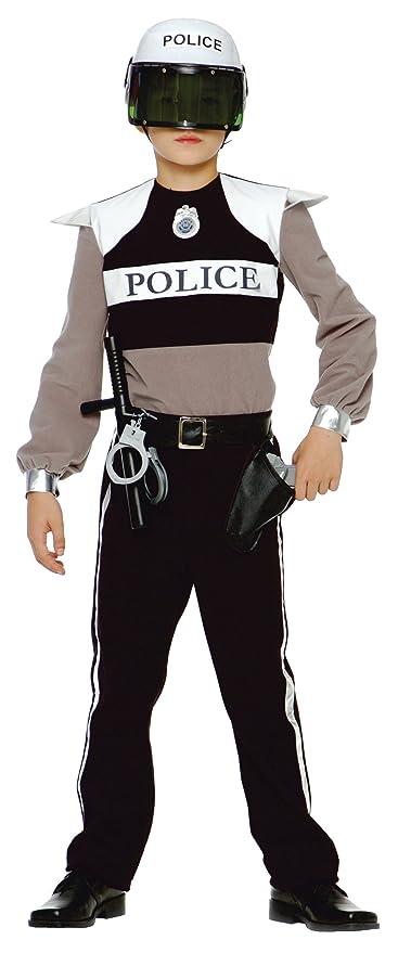 CARITAN - Disfraz de policía para niño (3 4 años) (talla 102 cm)