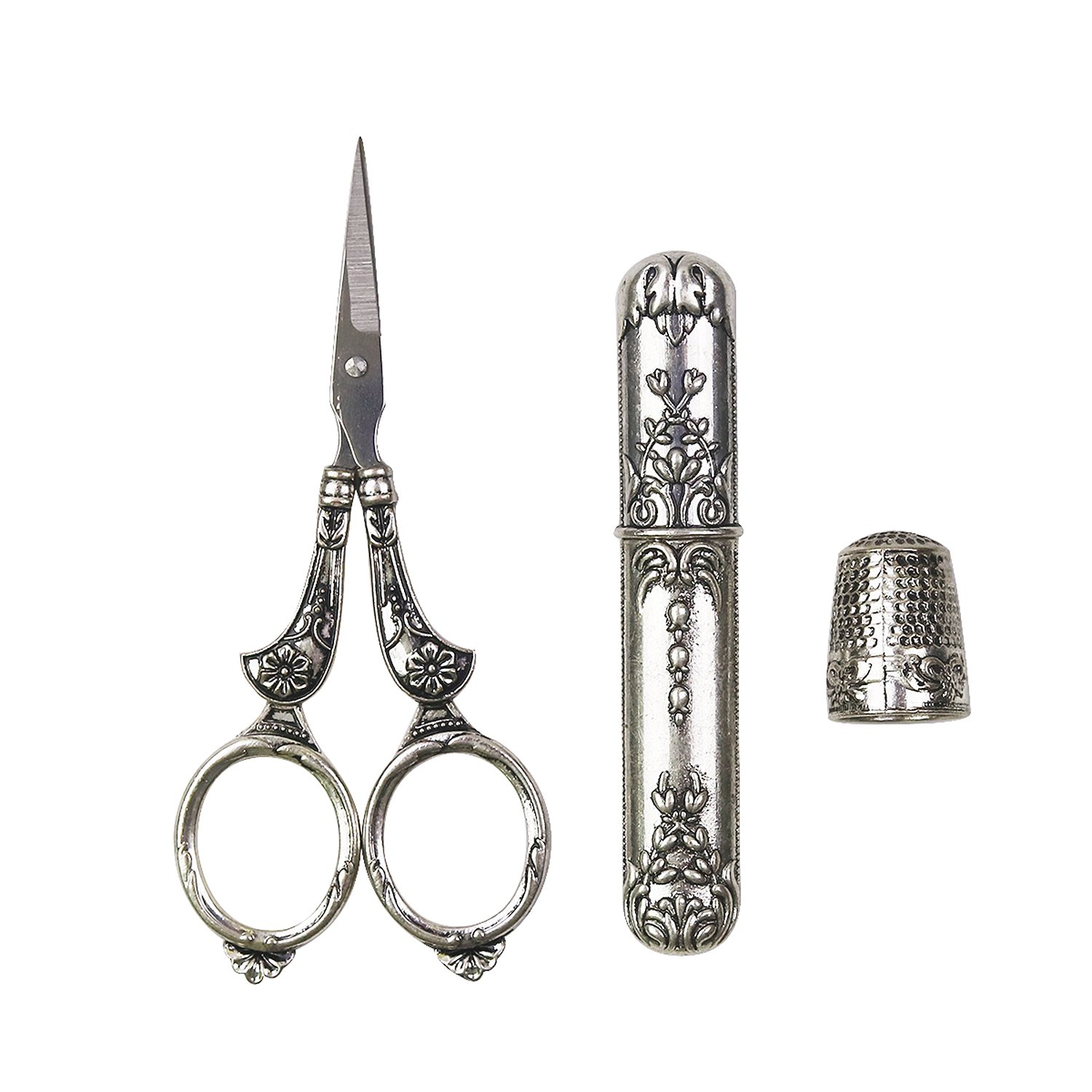 D&D Sewing Tool Kit, Sewing Tools Set Includes Embroidery Scissors, Metal Needle Case, Thimble for Quilting, Craft, Needlework & Everyday Use