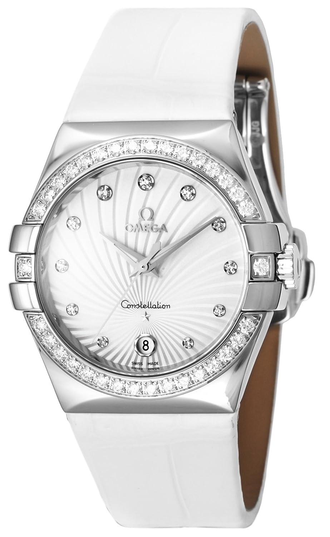 [オメガ]OMEGA 腕時計 コンステレーション ホワイト文字盤 ダイヤ アリゲータ
