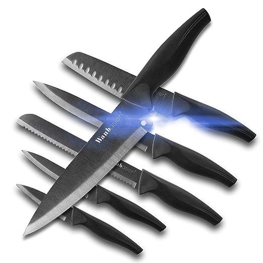 Wanbasion TK-80812 - Juego de 12 cuchillos de cocina ...