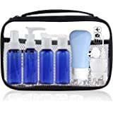 Travel Bottles Containers, TSA Approved Travel Size Toiletry Bottles Set with Toiletry Bag with Leak-Proof Travel Accessories for Liquids,Carry-On Luggage for Women/Men(Blue)