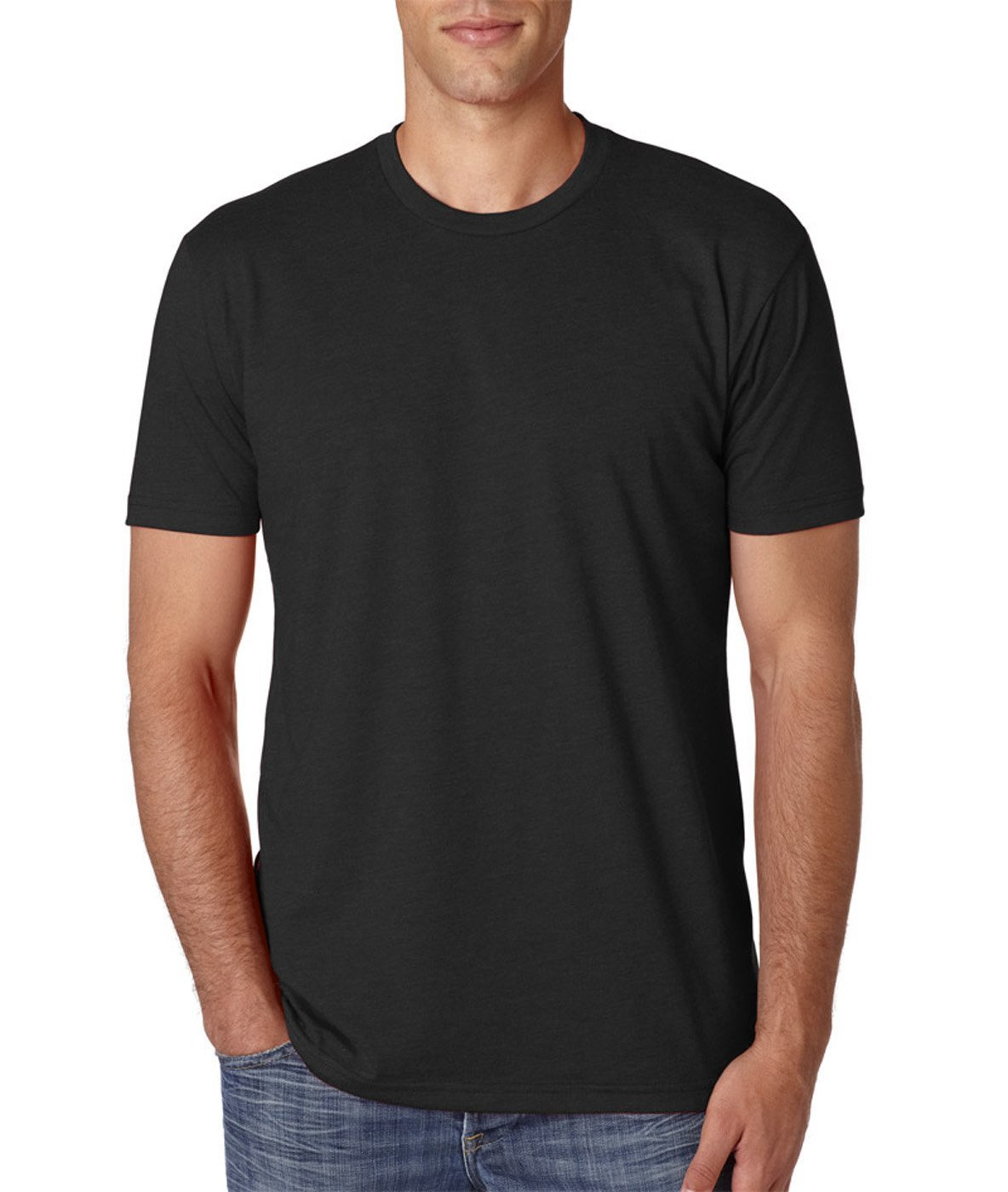 Next Level Premium Fitted CVC Crew Tee Black Medium (Pack 5)