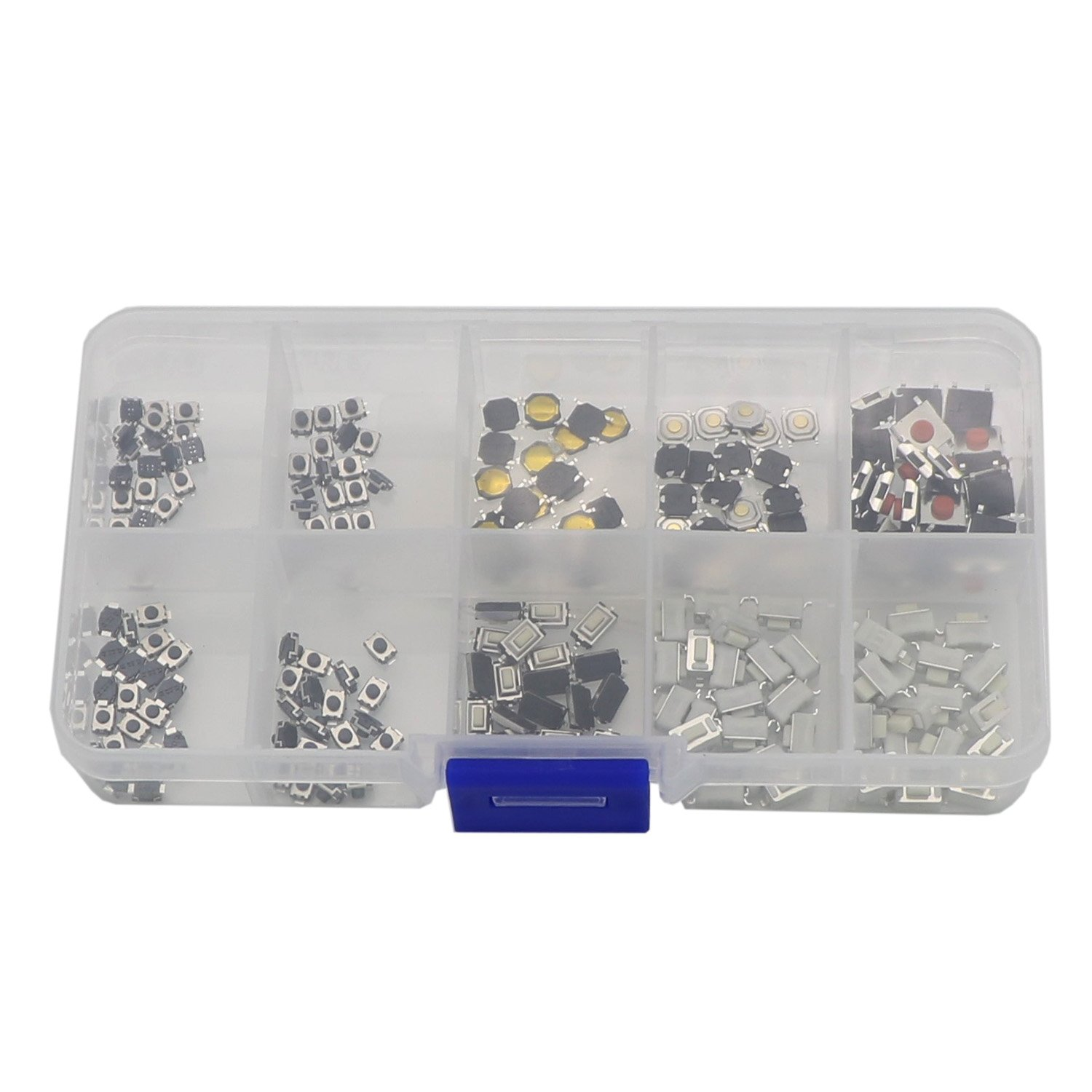 200 Pcs 10 Value Tactile Push Button Switch Micro Momentary Tact Assortment Kit
