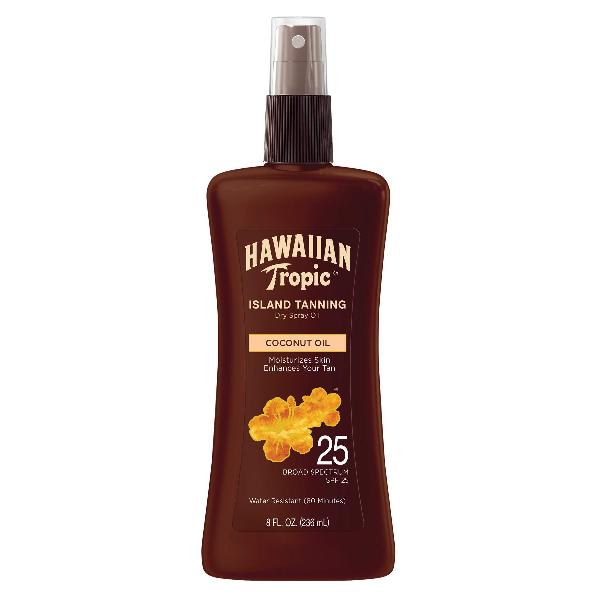 Hawaiian Tropic Tanning Oil Pump Spray, SPF 25, 8 Fl Oz by Hawaiian Tropic