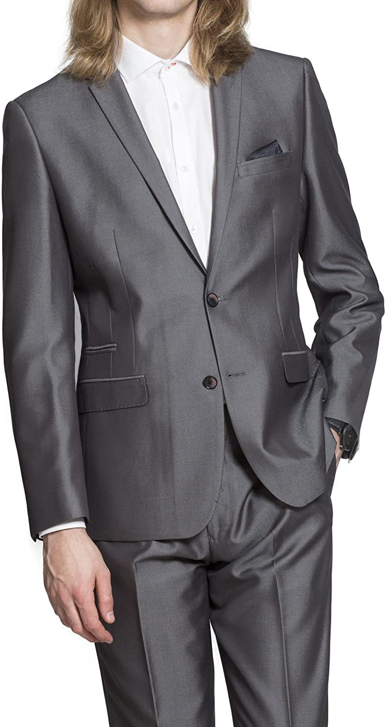 HARRY BROWN Tailored Fit 2 Piece Navy /& Silver Suit 40r to 50R