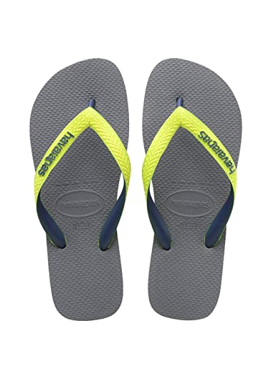 Havaianas Top Mix, Unisex Kids' Flip Flops, Steel Grey/Led Yellow,
