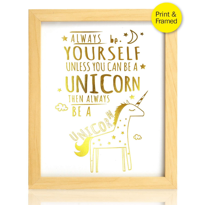 Amazon Unicorn Inspirational Quotes Framed Art Prints Real