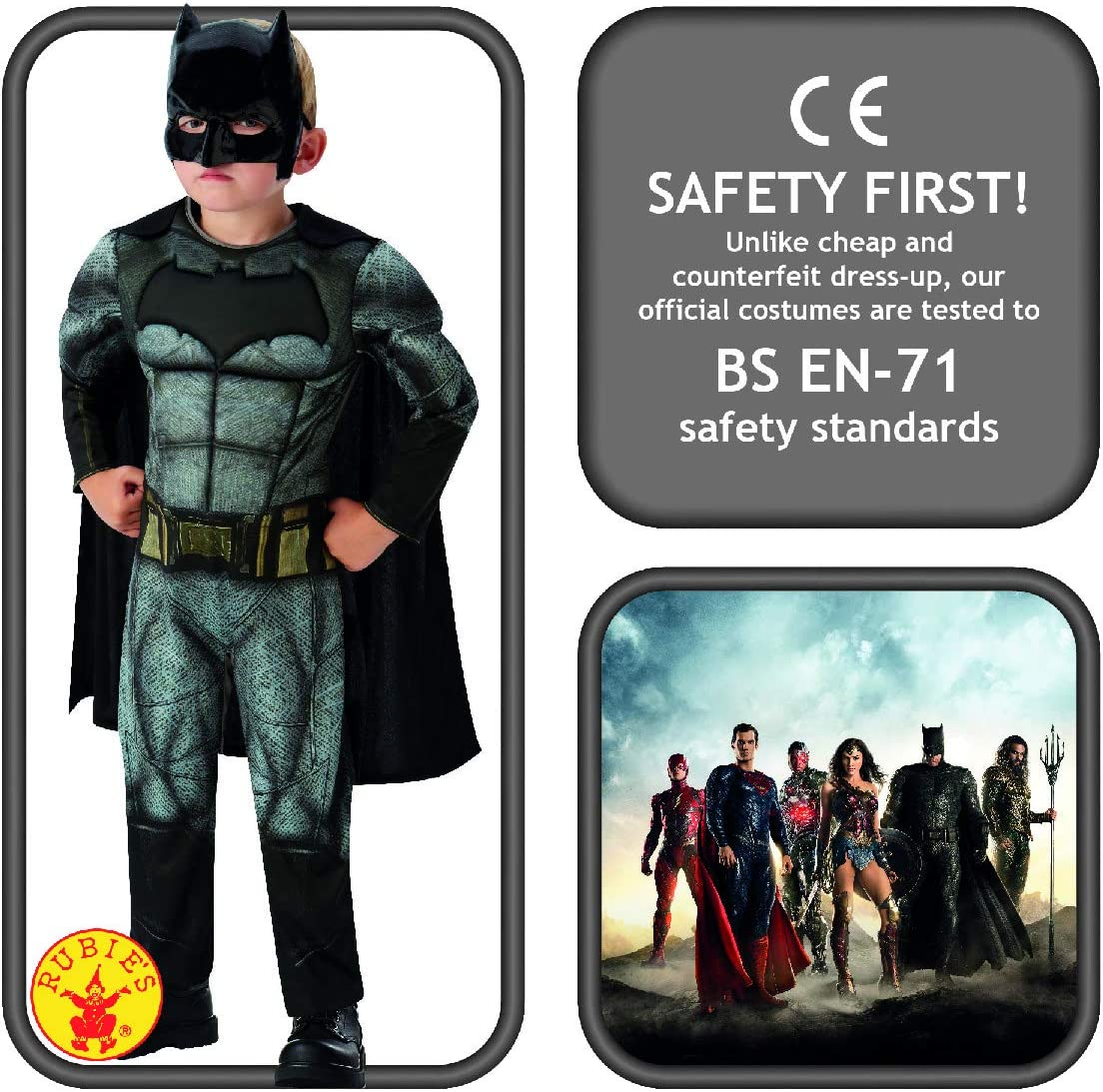 Rubies IT640807 Costume Batman Multicolore M