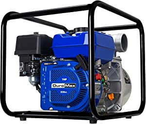 DuroMax XP650WP 7-HP 220-Gpm 3600-Rpm 3-Inch Gasoline Engine Portable Water Pump, 50 State Approved, XP650WP, Blue