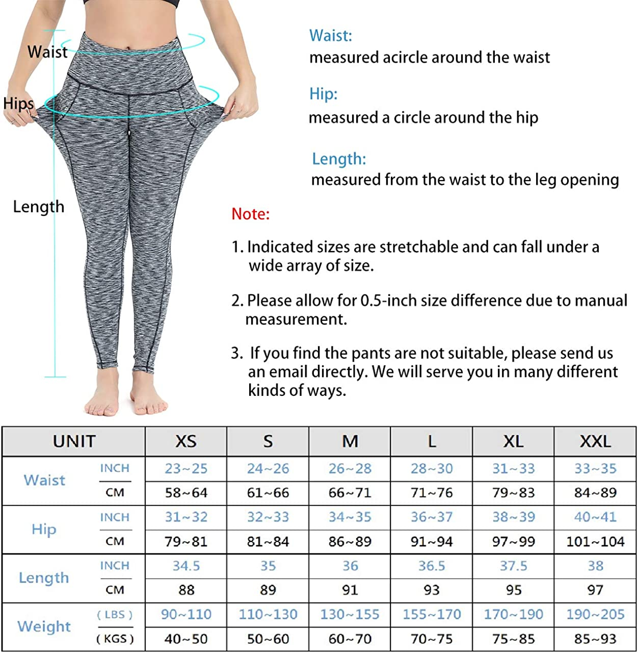 HIGHDAYS Yoga Pants for Women with Pocket High Waist Non See Through Yoga Leggings for Workout Athletic Runnig Cycling