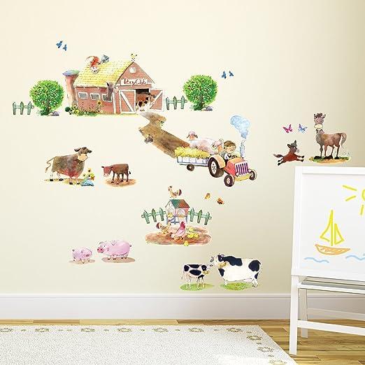Large 92x52 F211 Horse Head Farm Animal Kids Window Wall Decal 3D Art Stickers Vinyl Room