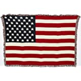 Pure Country Weavers Miami Flag Blanket Throw Blanket Woven from Cotton - Made in The USA (50x35)