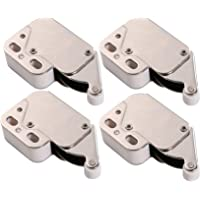 HWMATE Push to Open Touch Release Lock Spring Loaded Mini Latch for Kitchen Cabinet Cupboard Wardrobe Door (4 Pack)