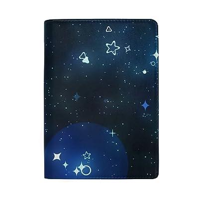 ColourLife Sky Galaxy Leather Passport Holder Passport Cover for Men Women Kids