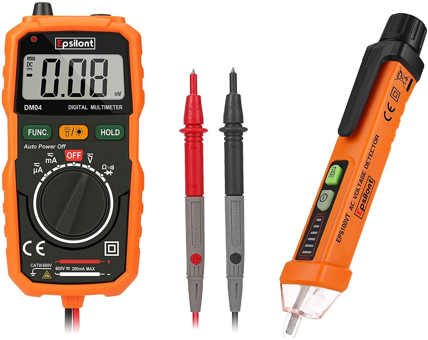 Epsilont Auto-Ranging Digital Multimeter and Voltage Tester ...