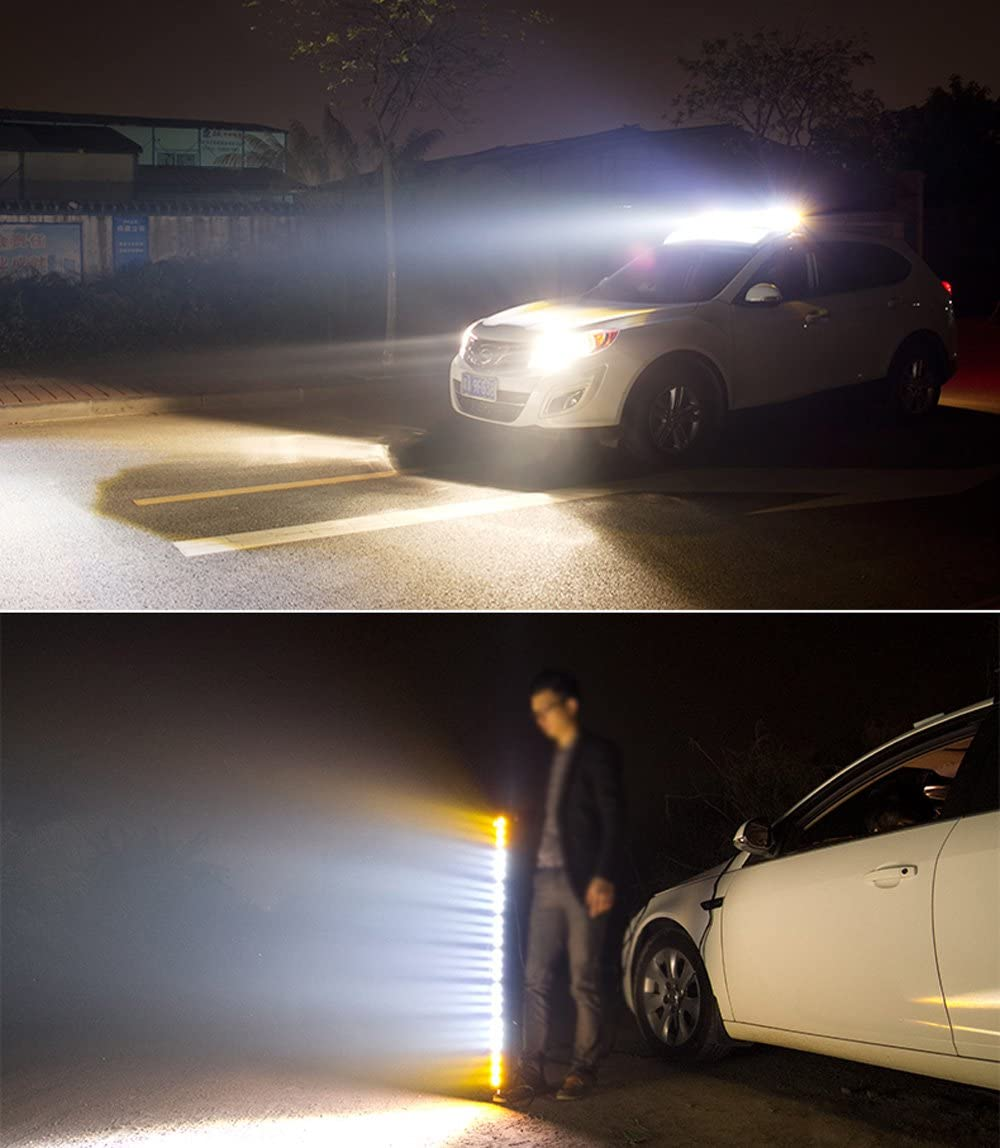 Xprite 90W CREE LED Offroad HD Spot Flood Combo C7 Alpha Series Light Bar 30Inch