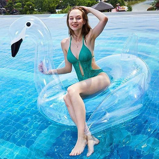 WEGCJU Cisne Hinchable Cisne Hinchable Flotador Piscina Gigante ...