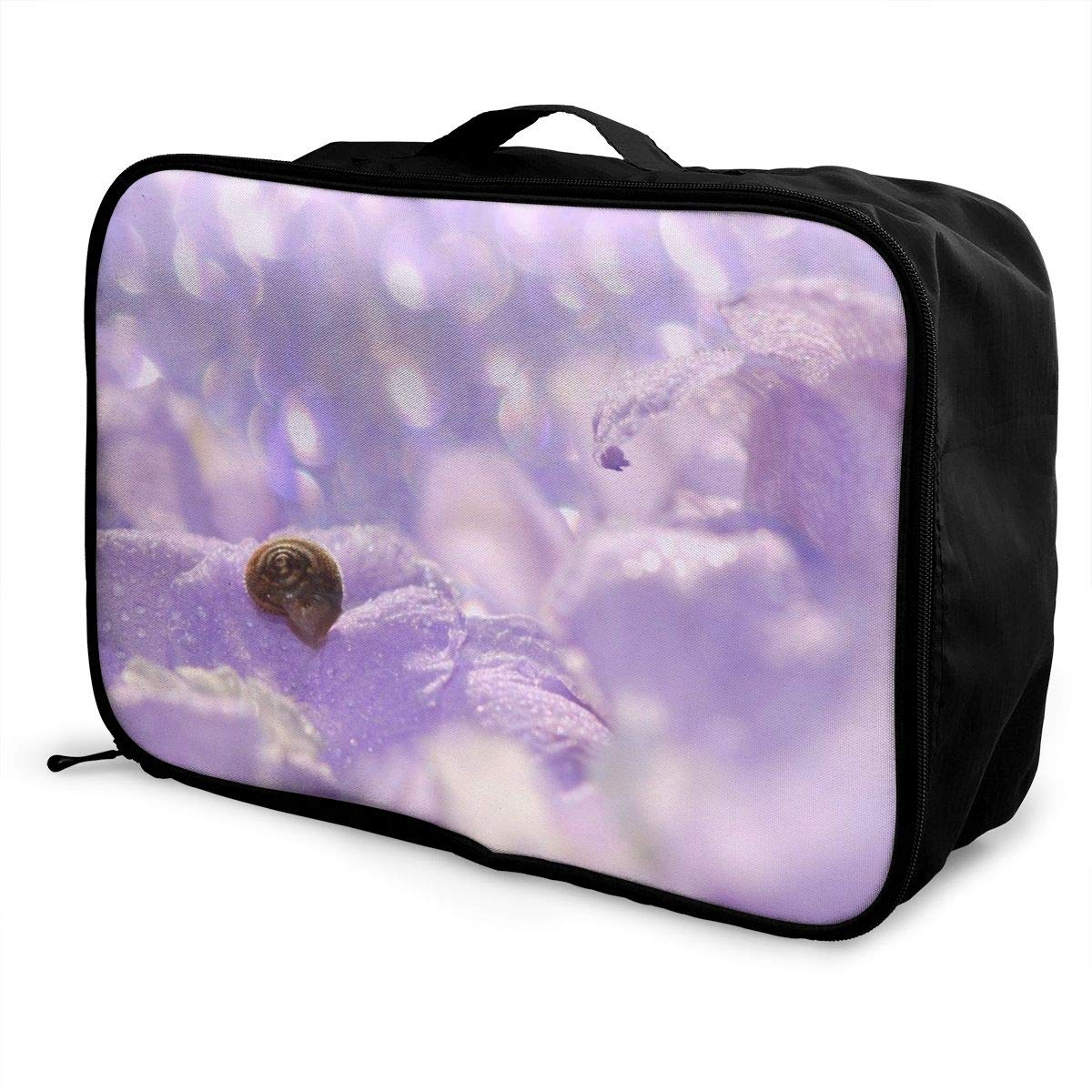 Flowers Flower Spring Pink Watercolor Travel Lightweight Waterproof Foldable Storage Carry Luggage Large Capacity Portable Luggage Bag Duffel Bag