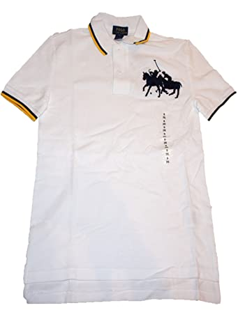 681b6124 Polo Ralph Lauren Children's Tops & T-Shirts Club Horses Embroidery White  New With Tags
