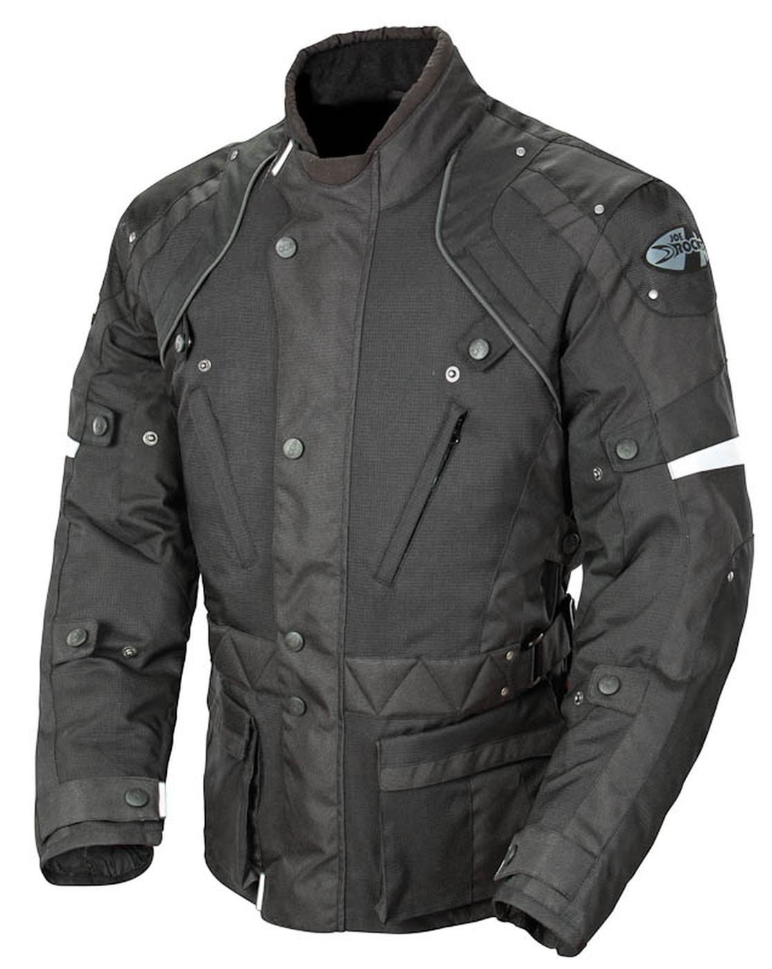 Joe Rocket Ballistic Revolution Men's Textile Sports Bike Motorcycle Jacket - Black/Black / Small