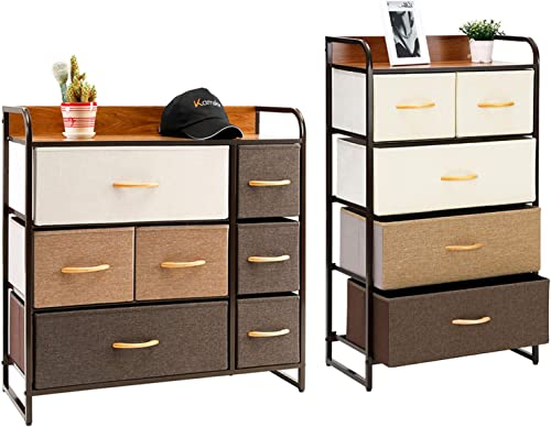 Kamiler 7 Drawer Dresser and 5 Drawer Dresser Set. Storage Organizer