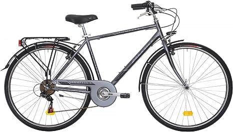 Bicicleta de ciudad para hombre Atala deportiva gris antracita 28 ...