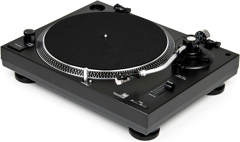 Dual DTJ 301.1 USB - Tocadiscos para DJ (33/45 U / min, control de velocidad, sistema fonocaptor magnético, iluminación de agujas, cable USB)