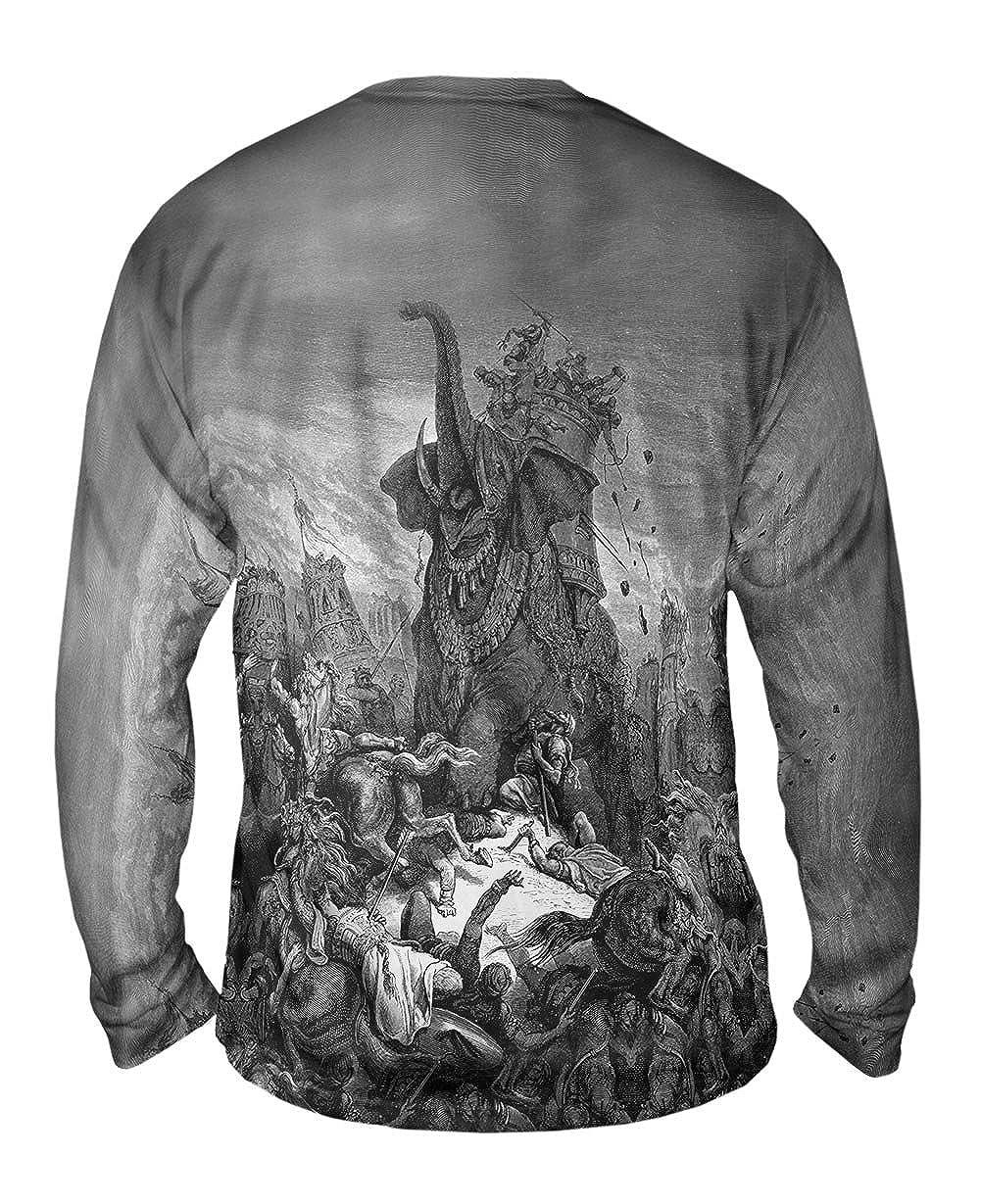 Yizzam- Gustave Dore -TShirt- Mens Long Sleeve 1866 Death Of Eleazer