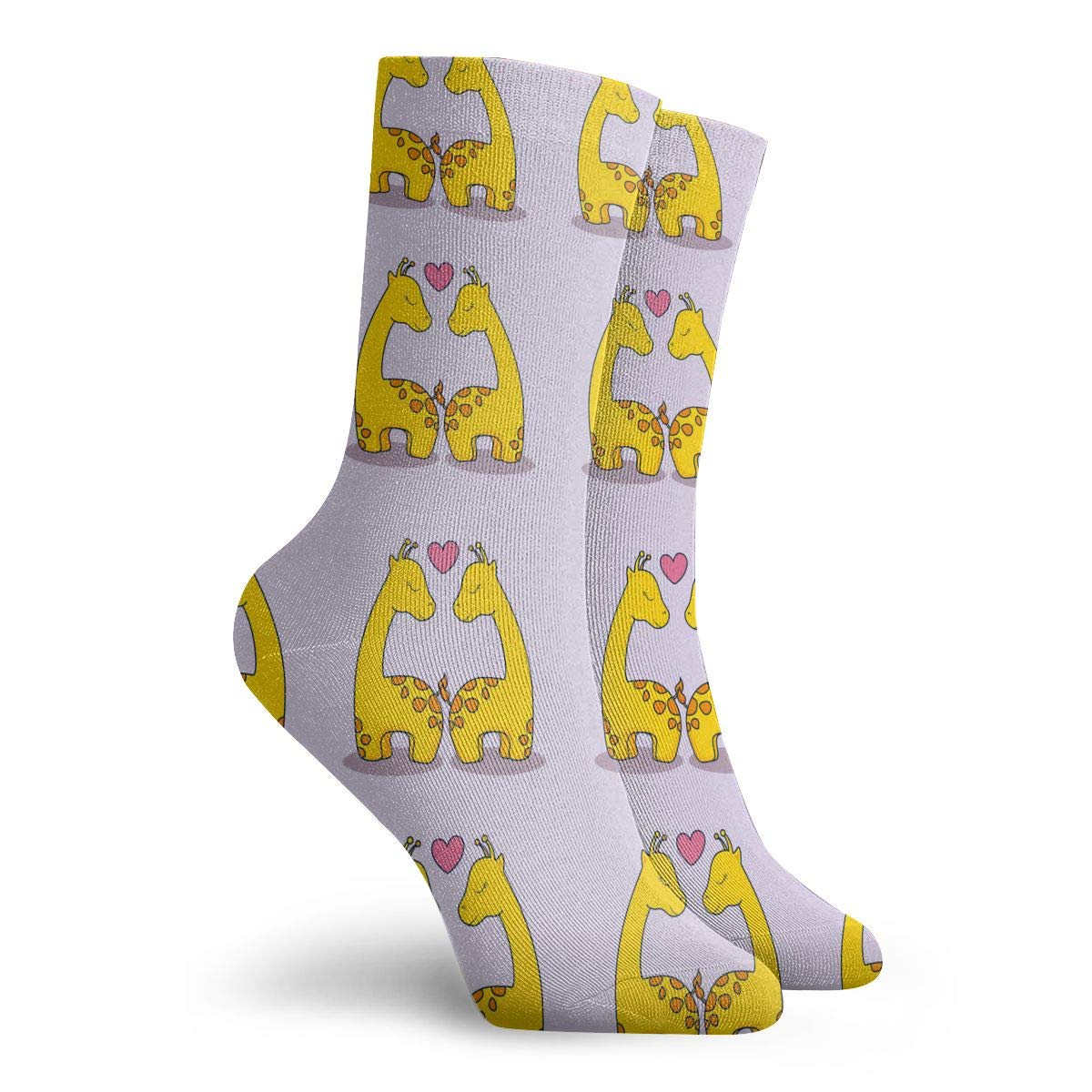 Unisex Love With Cute Giraffe Athletic Quarter Ankle Print Breathable Hiking Running Socks