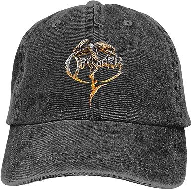 Gorra Hombre Béisbol Retro Snapback Unisex Jeans Hat Obituary Logo ...
