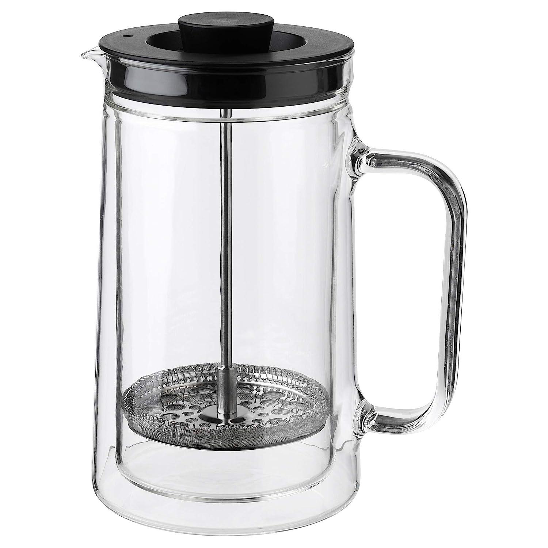 IKEA 903.589.76 Egentlig French Press Coffee Maker, Double-Walled, Clear Glass
