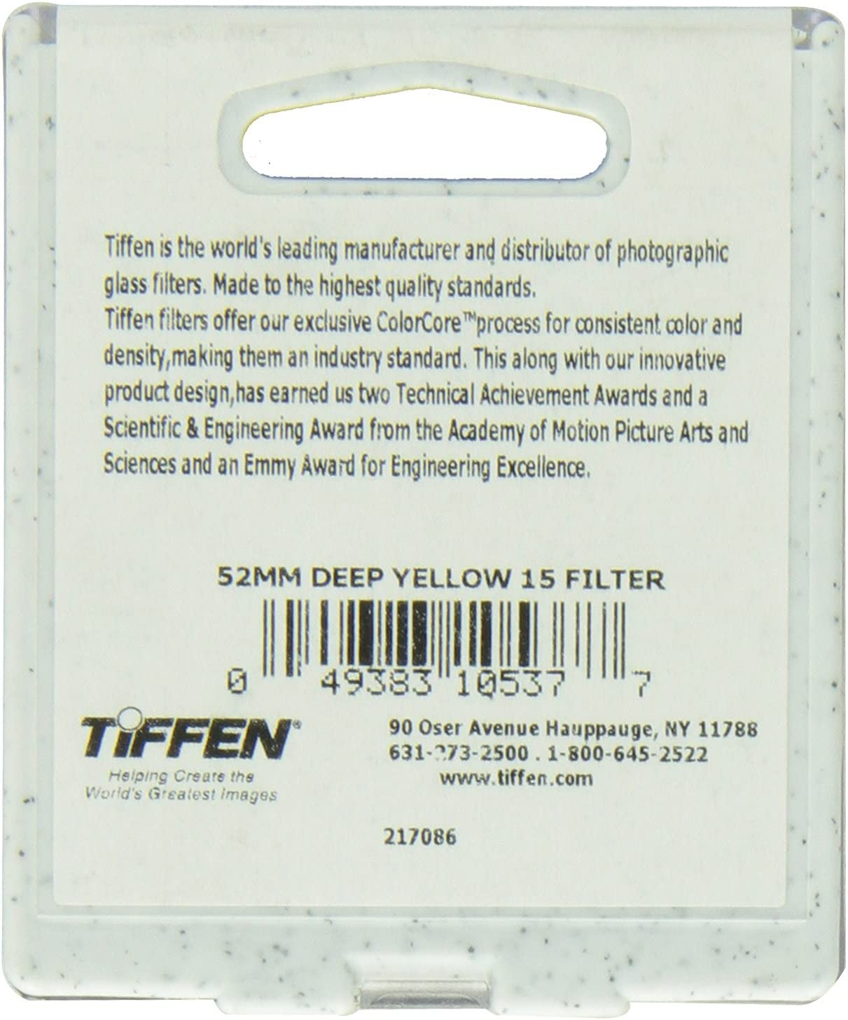 Tiffen 58mm 15 Filter Yellow