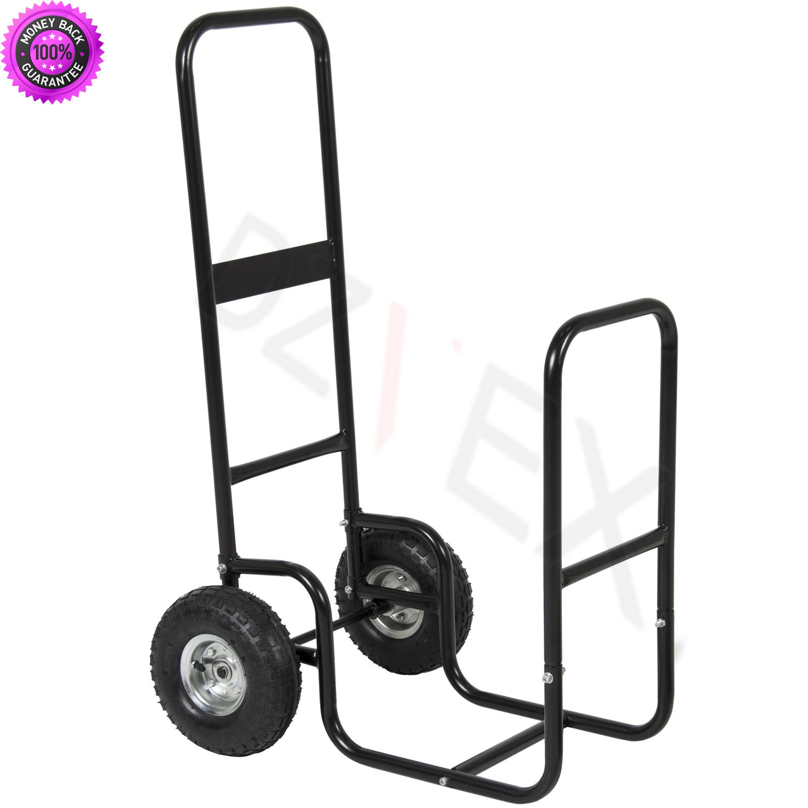 DzVeX Firewood Cart Log Carrier Fireplace Wood Hauler Rack Caddy Rolling Dolly And The steel construction and 10 inch wheels make it sturdy and easy to pull Light weight body makes it easy to store