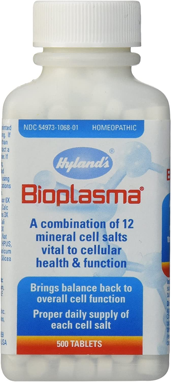 Bioplasma Cell Salts Tablets by Hyland's, Natural Homeopathic Combination of Cell Salts Vital to Cellular Function, Balance Electrolytes, 500 Count