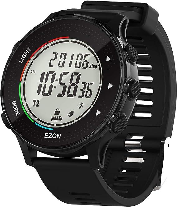 EZON Reloj Deportivo Digital con Monitor de frecuencia cardíaca ...