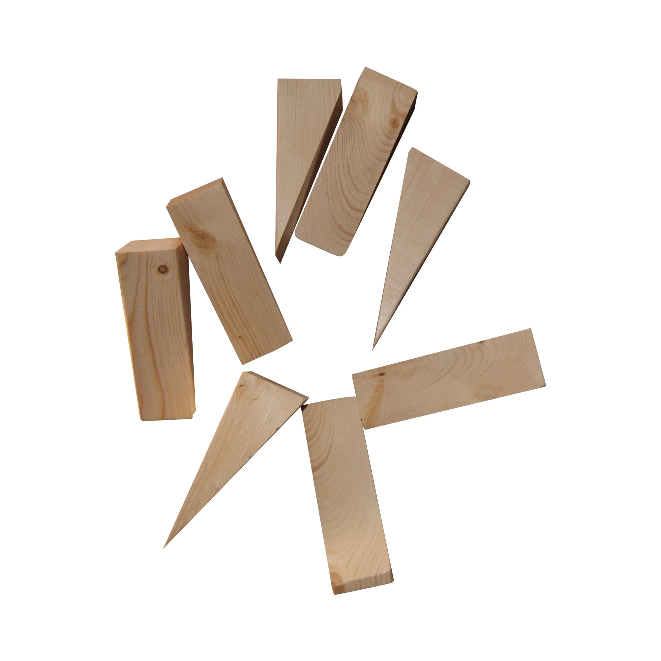 Wooden Non Slip Door Stop Stopper Wedge 8 Pack Of Stoppers Hand Made For All Surfaces Home & Office Woodgrain by Grant's Garage (Image #2)