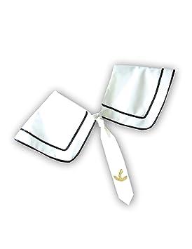 Cuello de marinero para Navegante en blanco con Corbata: Amazon.es ...