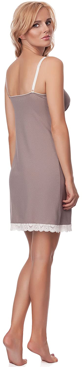 Alles Maternity Night Dress Shake Milk01 (Beige, 14)